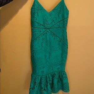 Revolve emerald green dress